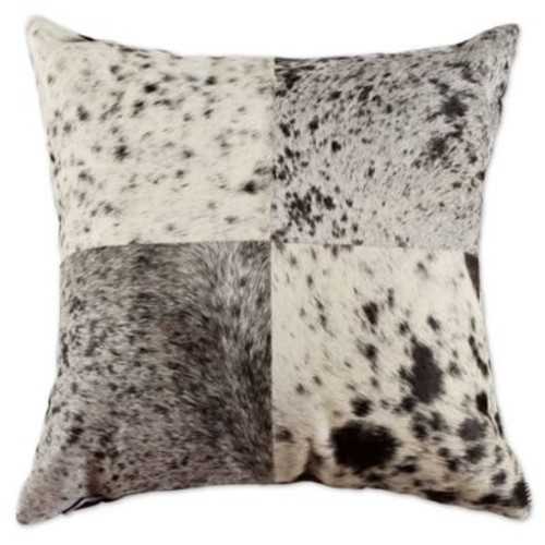 Torino Quatro 18-Inch Square Salt and Pepper Throw Pillow in Black/White