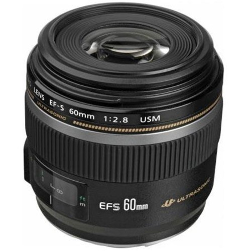 Canon EF-S 60mm f2.8 Compact Macro AutoFocus Lens, - Includes Cleaning Kit,