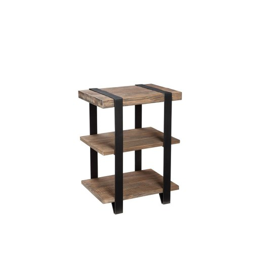 Alaterre Furniture Modesto Natural Storage End Table