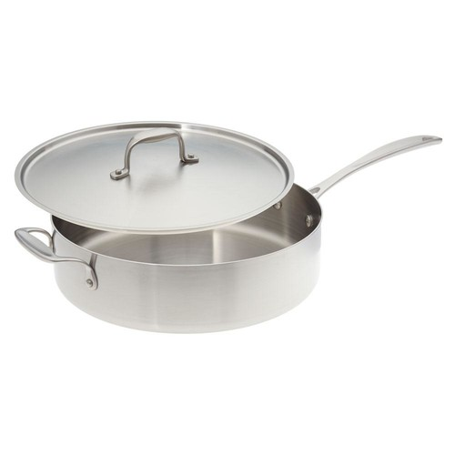 American Kitchen 12 in. Premium Stainless Steel Saute Pan with Cover