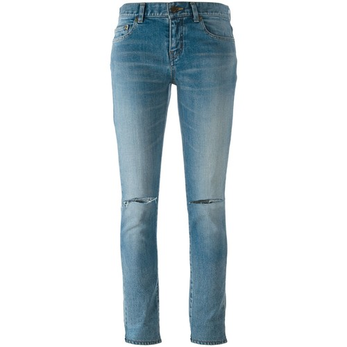SAINT LAURENT Distressed Skinny Fit Jeans