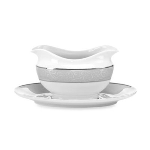 Mikasa Parchment Gravy Boat with Tray