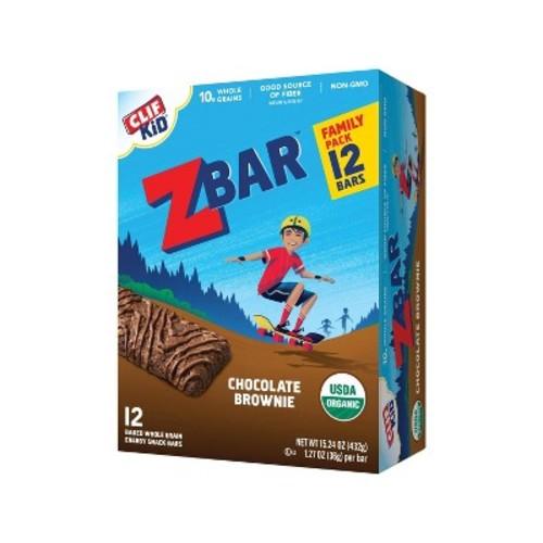 Clif Kid Zbar Organic Chocolate Brownie Whole Grain Energy Snack - 12ct