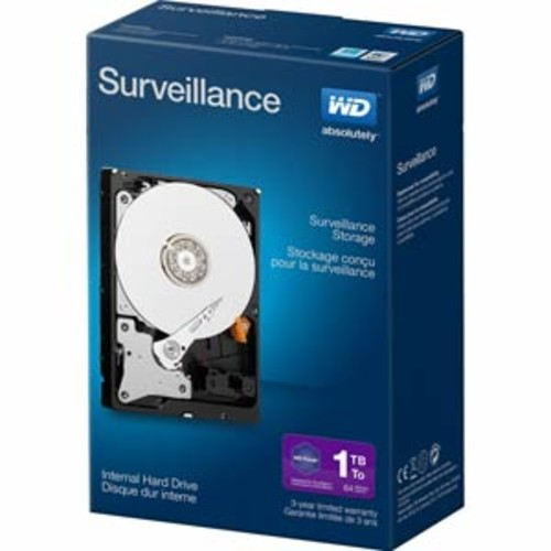 WD Surveillance Storage 1TB Intenal Hard Drive Retail Kit : WDBGKN0010HNC-NRSN