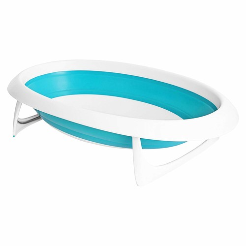 Boon Naked Collapsible Baby Bathtub Blue,Blue/White [Blue/White]