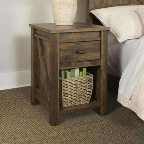 Ameriwood Home Altra Furniture Farmington Night Stand in Century Barn Pine