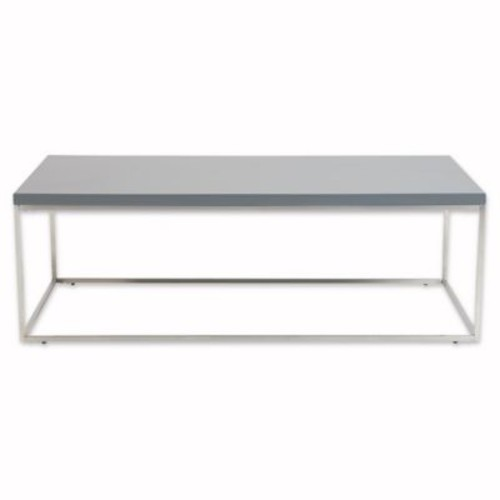 Eurostyle Teresa Rectangular Coffee Table with Stainless Steel Base