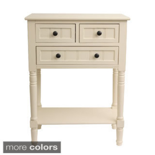Modern Two-Drawer Wooden Side Table