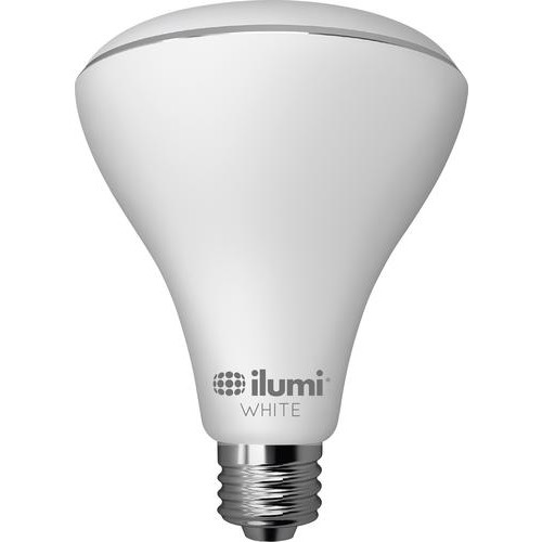 ilumi - 15W Dimmable BR30 LED Light Bulb, 75W Equivalent - White