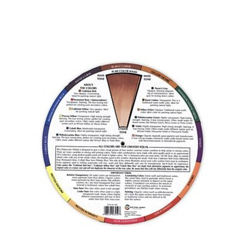 The Color Wheel Company Watercolor Wheel Watercolor Color Wheel [Pack Of 2] (2PK-WCW 3459)