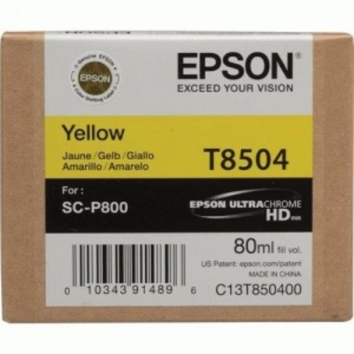Epson UltraChrome HD T850 Ink Cartridge - Yellow