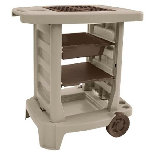 Resin Garden Center Garden Cart - Taupe Brown - Suncast