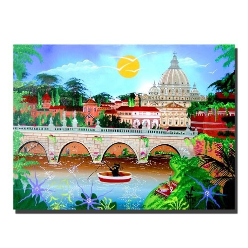 Roma by Herbert Hofer, 24x32-Inch Canvas Wall Art [24 by 32-Inch]