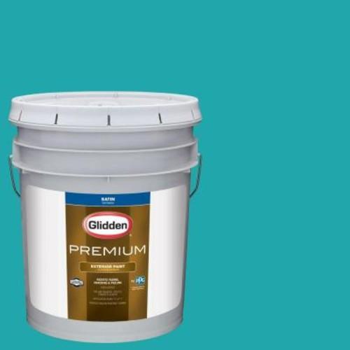 Glidden Premium 5-gal. #HDGB14 Marine Blue Satin Latex Exterior Paint
