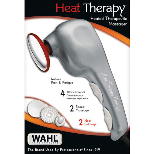 Wahl Heat Therapy Handheld Electric Massager for Muscle, Back, Neck, Face, Shoulder, Leg, Full Body Pain Relief. Gift for Men/Women/Mom/Dad, by Brand used by Professionals #04196-1201