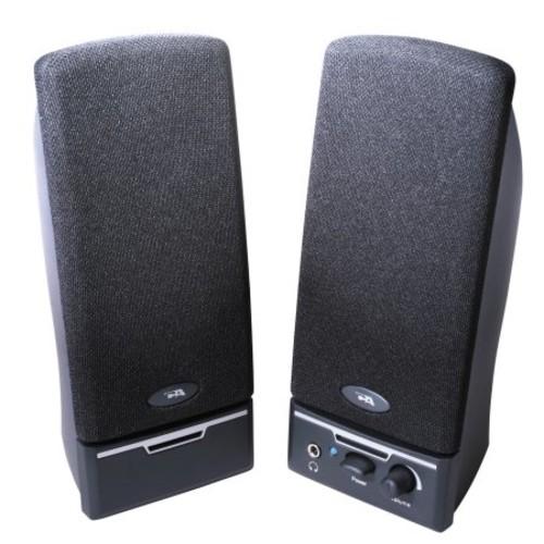 Cyber Acoustics Ca-2014rb Black 2pc 4w Speaker System Vol Power Headphone Jack Rt Speaker (ca2014rb)