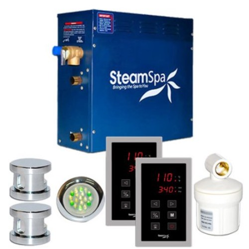 Steam Spa SteamSpa Royal 10.5 KW QuickStart Steam Bath Generator Package in Polished Chrome