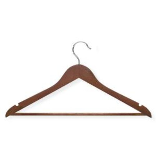 Honey-Can-Do Basic Suit Cherry Hanger with Non-Slip Bar (8-Pack)