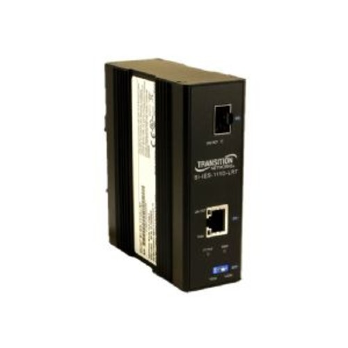 Transition Hardened PoE Media Converter - Fiber media converter - Ethernet, Fast Ethernet, Gigabit Ethernet - 10Base-T, 100Base-TX, 1000Base-T, 1000Base-X, 100Base-X - RJ-45 / SFP (mini-GBIC) - up to