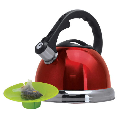 Primula Whistling Tea Kettle - Red