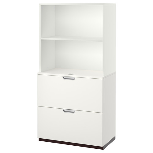 GALANT Storage combination with filing, gray
