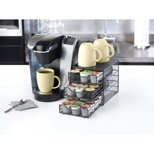 Nifty Home Products 6436 Keurig Brewed 3-tier K-Cup Drawer - 36 Capacity - Black