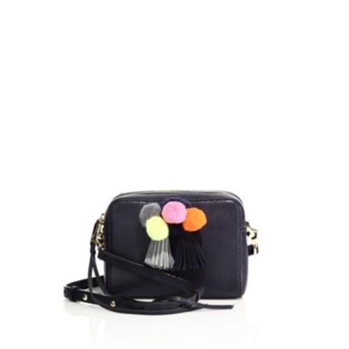 REBECCA MINKOFF Mini Sofia Pom-Pom Leather Crossbody Bag