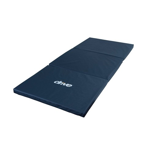 Drive Medical Tri-Fold Bedside Mat, Blue: Health & Personal Care
