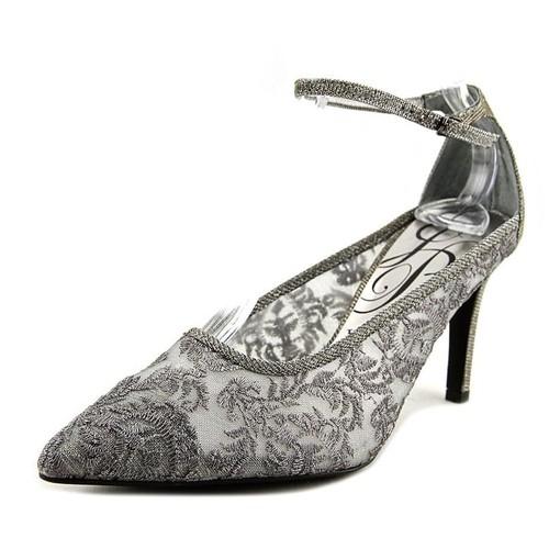 J. Renee Jena Women Pointed Toe Suede Gray Heels - 5
