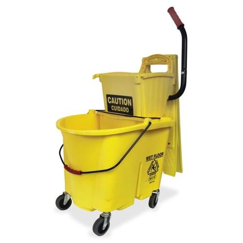 Impact Products 35 QT Side Press Splash Control Mop Bucket Wringer Combo - 35 quart - Yellow