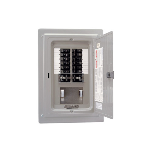 Reliance Prewired Generator Transfer Panel  12 Circuits, 60 Amps, 125/250 Volts, 15,000 Watts,