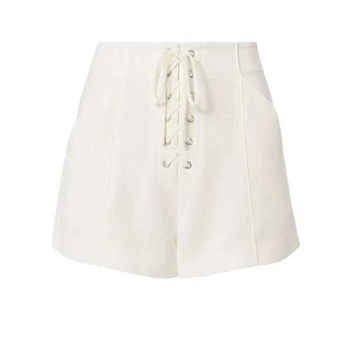 A.L.C. Kyle White Lace-Up Shorts