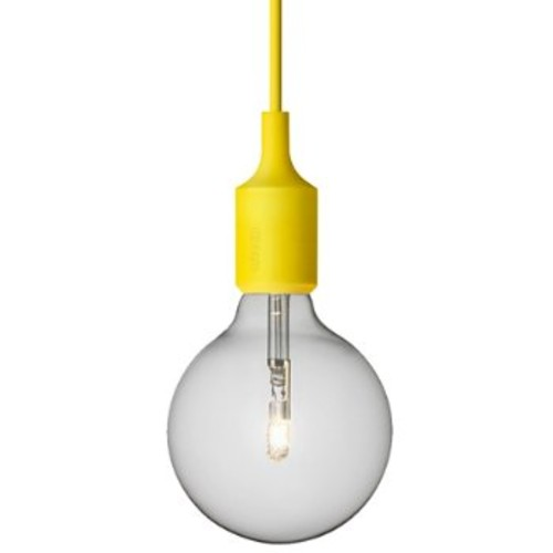 E27 Socket Pendant [||color : Yellow]