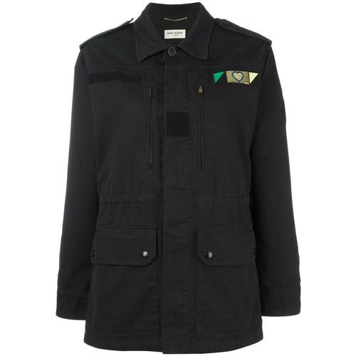 SAINT LAURENT Love Patch Military Jacket