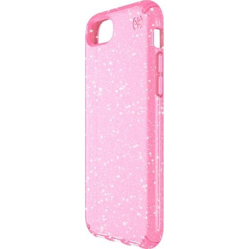 Speck - Presidio Clear + Glitter Case for Apple iPhone 6, 6s, 7 and 8 - Clear/glitter/bella pink