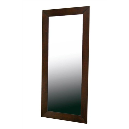 Wholesale Interiors Daffodil Wood Frame Rectangle Mirror in Dark Brown Finish