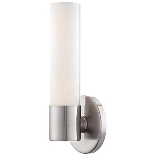 George Kovacs Saber 1-Light LED Wall Sconce in Brushed Nickel with Glass Shade
