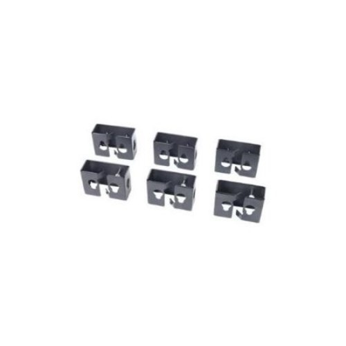 APC Cable Containment Brackets with PDU Mounting - PDU mounting brackets - black - for NetShelter SX