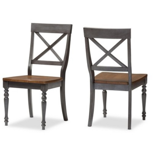Baxton Studio Rosalind Country Cottage Dining Chair 2-piece Set