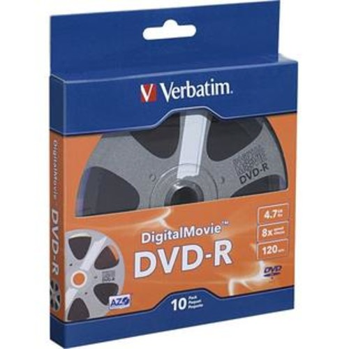 Verbatim Corporation 10PK DVD-R 8X 4.7GB DIGITAL