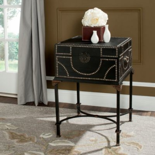 Safavieh Anthony Storage End Table in Dark Brown