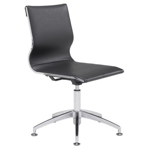 ZUO Glider Black Leatherette Conference Office Chair