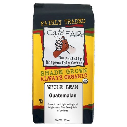 Caf Fair Guatemalan Organic Shade Grown Whole Bean Coffee - 12oz