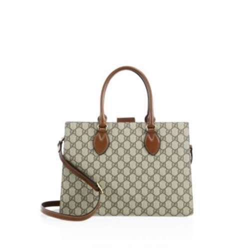 GUCCI Leather Crossbody Tote