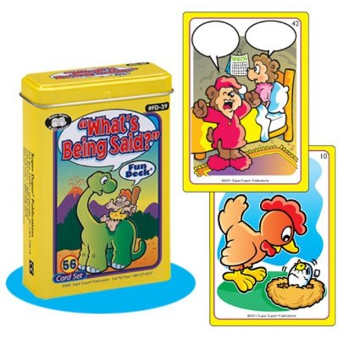 What's Being Said? Fun Deck Cards - Super Duper Educational Learning Toy for Kids