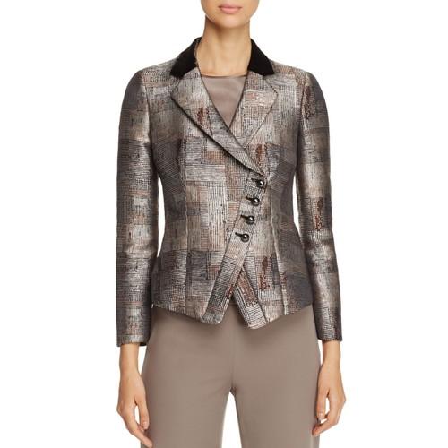 Abstract-Print Asymmetric Jacket