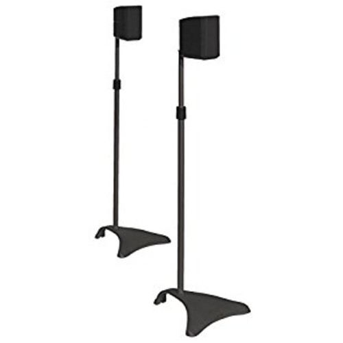 Atlantic SPSCUR47 Speaker Stands, Titanium