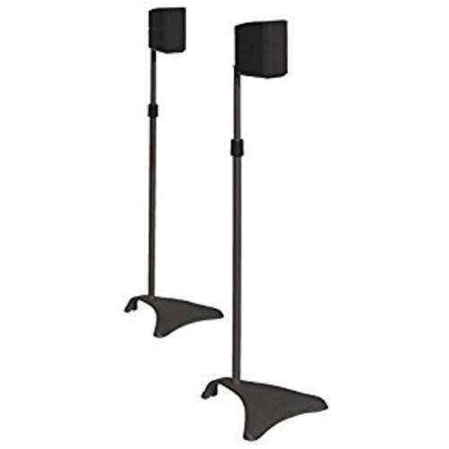 Atlantic SPSCUR47 Speaker Stands, Titanium [FURNITURE]