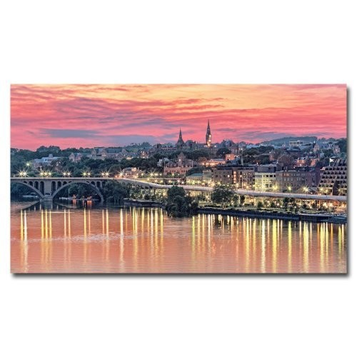 Georgetown In Twilight by Gregory O'Hanlon, 14x24-Inch Canvas Wall Art [14 by 24-Inch]