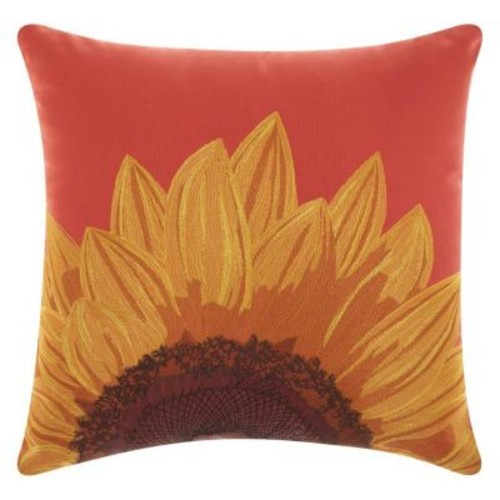 Mina Victory Sunflower Indoor / Outdoor Throw Pillow